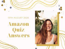 Amazon Quiz 13 August 2020