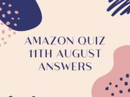 Amazon quiz 11 august 2020